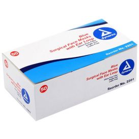 Procedure Face Masks w/Ear Loop, Blue ASTM Level 1 - 50/Box
