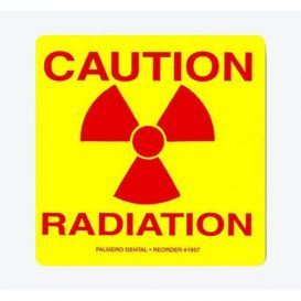"""""""Caution Radiation"""" Labels, 3"""" x 3"""", 5/Pack - 5/Pack"""