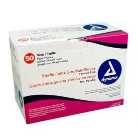 Latex Surgical Gloves, Size 7.5, Powder-Free - 50/Box