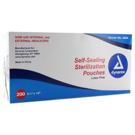 "Sterilization Pouches, Self-Sealing, 5.25"" x 10"" - 200/Box"
