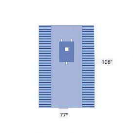 "Laparotomy Drape w/Tape Pediatric 77"" x 108"" - 10/Case"