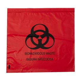 "Biohazard Red Bag 24"" x 33"" 15 Gallon 1.2 mil - 250/Case"