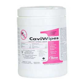 """CaviWipes1™ 1 Minute, 1 Step Germicidal Wipes, 6"""" x 6.75"""", 160 Count - 160/Canister"""