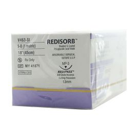 "RELI® REDISORB™ Polyglycolic Acid (PGA) Violet Braided & Coated Suture, 5-0, P-3 (C-3), Precision Reverse Cutting, 18"" - 12/Box"