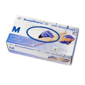 SensiCare Silk® Nitrile Exam Gloves, Medium, Powder-Free, Non-Sterile - 250/Box