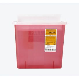 Patient Room Sharps Collector, 5 Quart, Red