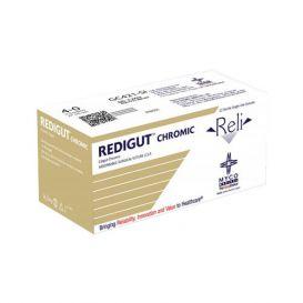 "RELI® REDIGUT® Chromic Gut Absorbable Suture, 3-0, MFS-1 (FS-1 or C7), Reverse Cutting, 27"" - 12/Box"