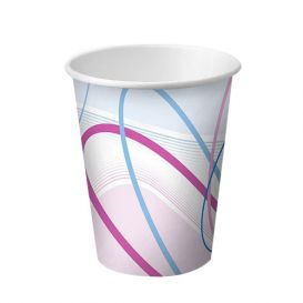 Disposable Paper Cups, 3 oz, Contemporary Design - 100/Sleeve