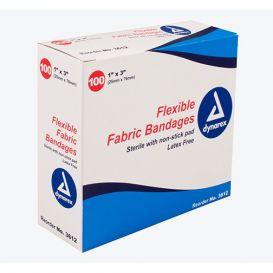 "Flexible Fabric Bandages, 1"" x 3"", Sterile, Latex-Free - 100/Box"