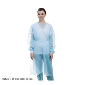 Isolation Gown w/ Knit Cuffs, AAMI Level 1, Regular, Blue - 50/Pack