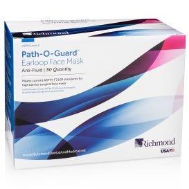 Path-O-Guard™ Earloop Face Mask, Level III, Anti-Fluid, Pink - 50/Box