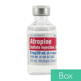 Atropine Sulfate 0.4mg/ml 20ml Multiple Dose Vial - 10/Box