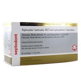 Septocaine® 4% 1:100,000 1.7ml Cartridges - 50/Box