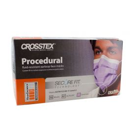 Procedural Earloop Mask w/ Secure Fit® Technology, Lavender, ASTM Level 2 - 50/Box