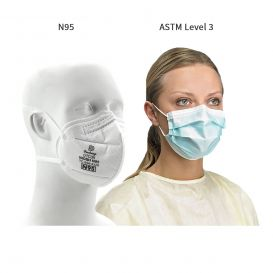 SAS Level 3 and N95 Mask Bundle - 10 boxes of PG41273 and 1 box of DTC3X