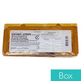 Fentanyl Citrate 0.05mg/ml 2ml Single Dose Ampul, - 10/Box