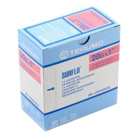 "SURFLO® IV Catheter, 20G x 1"", Pink - 50/Box"