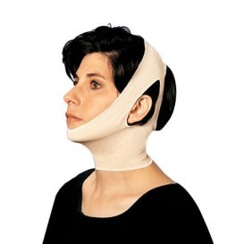 Facial Compression Large w/ Ear Openings Two Straps Neck and Facial