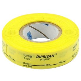 Diprivan®/Propofol Labels, Yellow, Perforated Tape Style - 333/Roll