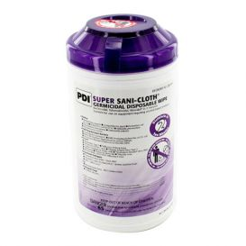 """Super Sani-Cloth® Germicidal Disposable Wipe, 7.5"""" x 15"""", 65/Can - 65/Can"""