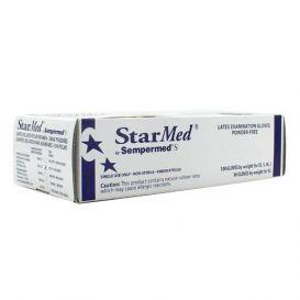 StarMed® Exam Gloves, Small, Latex, Powder-Free, Textured - 100/Box