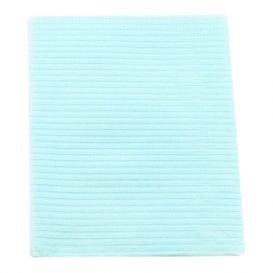 "Sani-Tab® Chain-Free® Patient Towels, 2-Ply Tissue with Poly, 19"" x 13"", Blue - 400/Case"