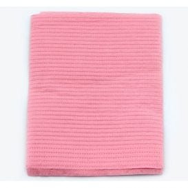 "Sani-Tab® Chain-Free® Patient Towels, 2-Ply Tissue with Poly, 19"" x 13"", Dusty Rose - 400/Case"