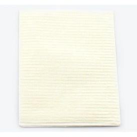 "Sani-Tab® Chain-Free® Patient Towels, 2-Ply Tissue with Poly, 19"" x 13"", White - 400/Case"
