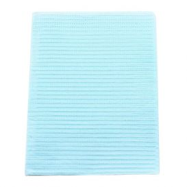 """Polyback® Patient Towels, 3-Ply Tissue with Poly, 19"""" x 13"""", Blue - 500/Case"""