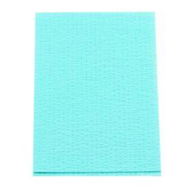 """Advantage Plus® Patient Towels, 3-Ply Tissue with Poly, 18"""" x 13"""", Aqua - 500/Case"""
