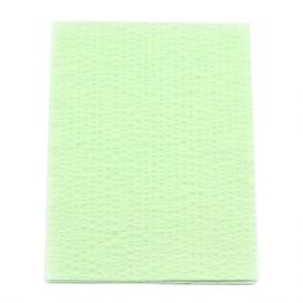 """Advantage Plus® Patient Towels, 3-Ply Tissue with Poly, 18"""" x 13"""", Green - 500/Case"""