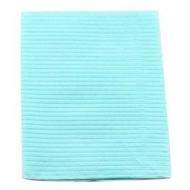 "Sani-Tab® Chain-Free® Patient Towels, 3-Ply Tissue with Poly, 19"" x 13"", Blue"