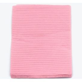 """Sani-Tab® Chain-Free® Patient Towels, 3-Ply Tissue with Poly, 19"""" x 13"""", Dusty Rose - 400/Case"""