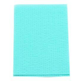 "Advantage Patient Towels, 2-Ply Tissue with Poly, 18"" x 13"", Aqua - 500/Case"