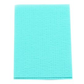 "Advantage Patient Towels, 2-Ply Tissue with Poly, 18"" x 13"", Aqua - 500/Case"