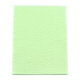 "Advantage Patient Towels, 2-Ply Tissue with Poly, 18"" x 13"", Green - 500/Case"