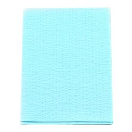 "Advantage Patient Towels, 2-Ply Tissue with Poly, 18"" x 13"", Blue - 500/Case"