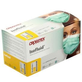 Isofluid® Earloop Mask, Teal, ASTM Level 1 - 50/Box