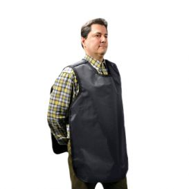 "Dual X-Ray Apron, Pano-Adult, .3 mm, 22.5"" x 26.5"", Grey Vinyl -"