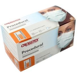 Procedural Earloop Mask, Blue, ASTM Level 2 - 50/Box