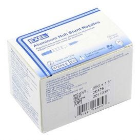 "Blunt Needle, 20G x 1 1/2"", Aluminum Hub - 25/Box"