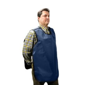"Dual X-Ray Apron, Pano-Adult, .3 mm, 22.5"" x 26.5"", Blue Vinyl -"