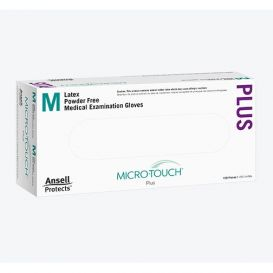 Micro-Touch® Plus Exam Gloves, Small, Latex, Powder-Free - 150/Box