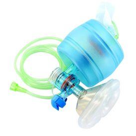 CPR-2 Adult Disposable Manual Resuscitator w/Mask, Manometer, O2 Reservoir Bag - 25/Case