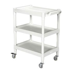 Plastic Utility Cart with 3 Shelves -