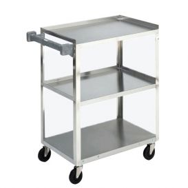 Stainless Stell All Purpose Cart with 3 Shelves -
