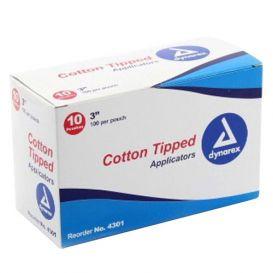 """Cotton Tipped Applicators Non-Sterile 3"""" - 10/Box"""