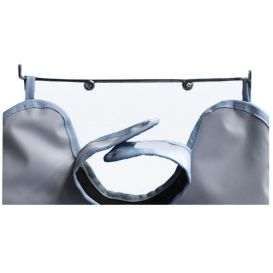 "Wall Mount X-Ray Apron Hanger, Chrome Coated Steel, 15"" x 2"" -"