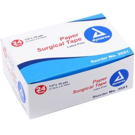 "Surgical Tape Paper 1/2"" x 10Yds  - 24/Box"