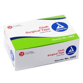 "Surgical Tape Cloth 1"" x 10Yds - 12/Box"